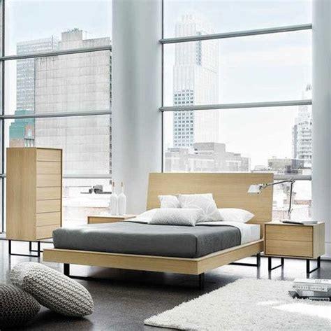 kasala modern wood floating platform bed bedroom set seattle furniture bedrooms