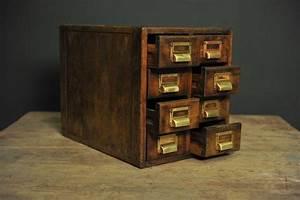 Petite Boite En Bois : petite bo te de rangement en bois avec huit tiroirs en vente sur pamono ~ Teatrodelosmanantiales.com Idées de Décoration