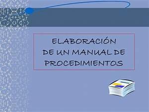 Elaborar Manual De Procedimientos