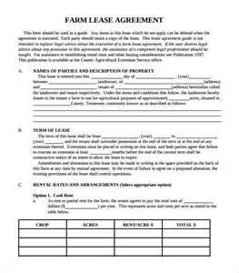 Simple Farm Lease Agreement