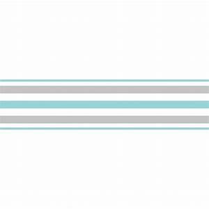 Fine Decor Ceramica Stripe Self Adhesive Border Teal