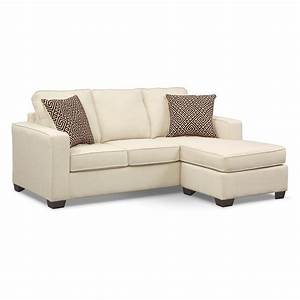 Sterling beige queen memory foam sleeper sofa w chaise for Sectional sofa w queen sleeper