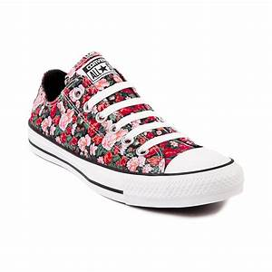 Converse All Star Lo Floral Sneaker, Black Red Floral ...