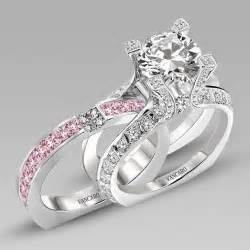 pink wedding ring set white and pink cubic zirconia 925 sterling silver white gold plated wedding ring set in la
