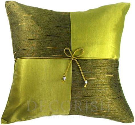 lime green silk sofa bed decorative throw pillow covers