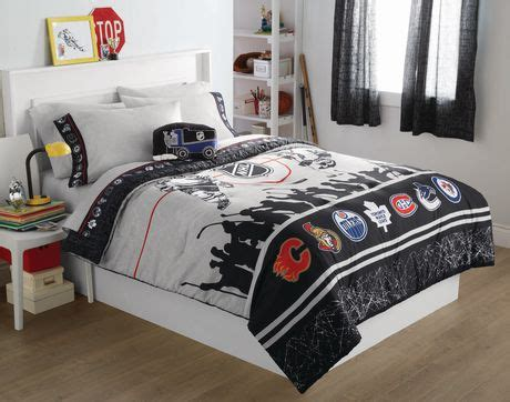 nhl bedding sets nhl hockey montage 3pc bed sheets set