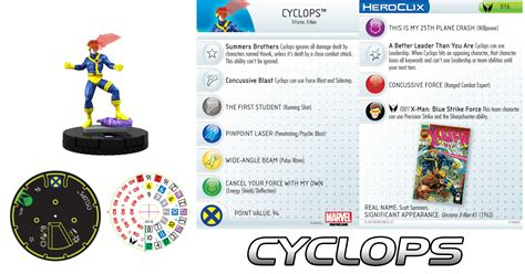 cyclops heroclix gambit wolverine tactics majestix team jubilee