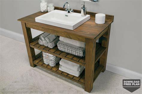 Simple Bathroom Vanity Plans Rustic Bathroom Vanity Kreg Tool Company