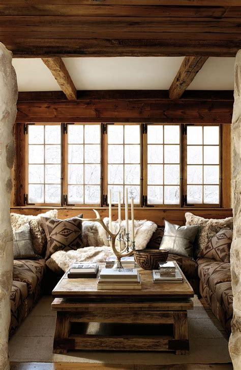 living room in 10 chalet chic living room ideas for ultimate luxury and