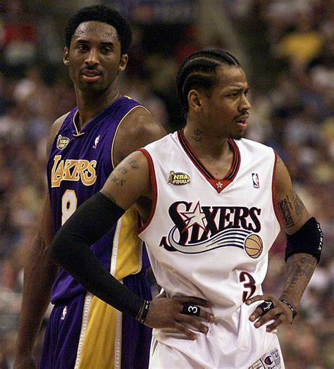 los angeles lakers allen iverson angry kobe bryant