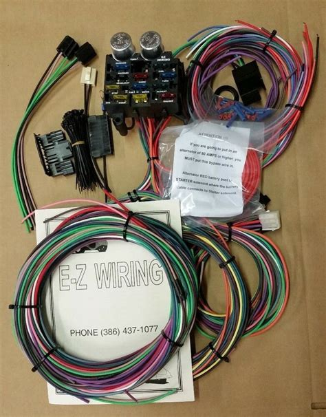 L Wiring Harness by Ez Wiring 12 Circuit Standard Panel Wiring Harness Deluxe