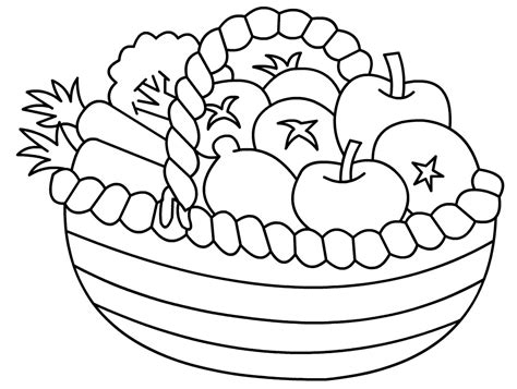 fruits  vegetables drawing  getdrawingscom