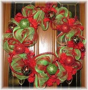 Deco Mesh Wreaths For Christmas Christmas Decore