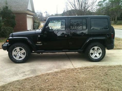 jeep soft top 4 door purchase used 2011 jeep wrangler sahara 4 door hard and