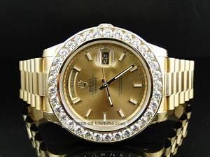 Rolex Uhr Herren Gold : diamant armbanduhr f r herren rolex president ii 8ct diamant 18k gold ~ Frokenaadalensverden.com Haus und Dekorationen