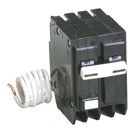 gfci circuit breaker eaton 20 amp 2 in double pole type br gfci circuit breaker gfcb220cs the home depot