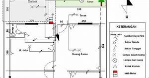 Gambar Diagram Garis Tunggal 1300 Va Untuk Rumah Tangga