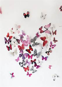 3d pink butterfly wall art With butterfly wall art