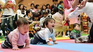 Baby Crawling Contest - They did WHAT? - YouTube  Contest
