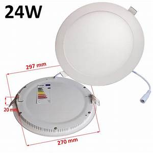Dimmable w round recessed ultra slim ceiling led light