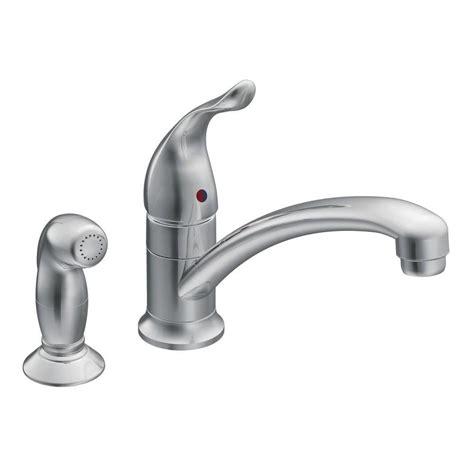 one kitchen faucet shop moen chateau chrome 1 handle low arc kitchen faucet