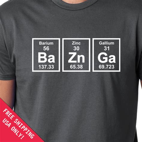 periodic table t shirt baznga periodic table mens womens t shirt chemical elements