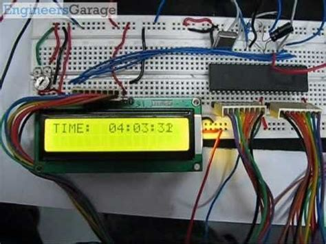 digital clock with rtc ds12c887 8051 microcontroller project youtube