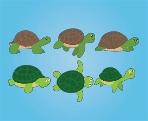 cartoon turtle vector vector art graphics freevectorcom