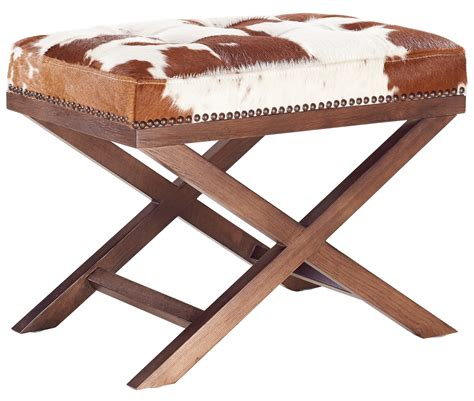 Cowhide Bench Ottoman by Moo X Genuine Cowhide Ottoman From Tov Coleman Furniture