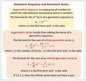 Geometric Sequences And Series  Examples  Solutions  Videos