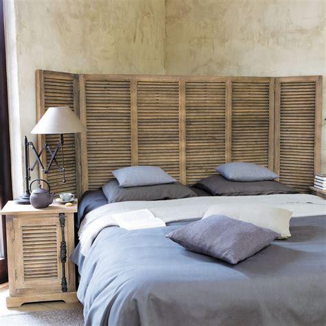 tete de lit chambre adulte mobilier maison tete de lit persienne bois 2 chambre