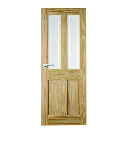 4 Panel Clear Pine 2 Light Glazed Door   Howdens Joinery