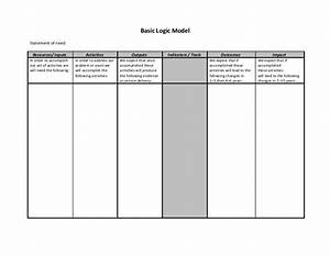 blank logic model With logic model template microsoft word