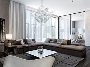 Wohnzimmer Mit Brauner Couch : modernes wohnzimmer braunes sofa schiebet r essbereich haus in 2018 pinterest wohnzimmer ~ Markanthonyermac.com Haus und Dekorationen