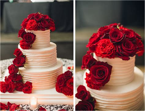 Classic Fall Wedding, Black And White With Crimson Red