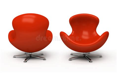 Poltrona Rossa Di Cuoio Illustrazione Di Stock