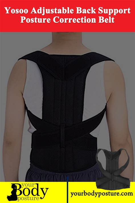 Yosoo Adjustable Back Support Posture Correction Belt ...