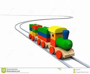 Wooden Toy Train Illustration Stock Illustration - Image ...