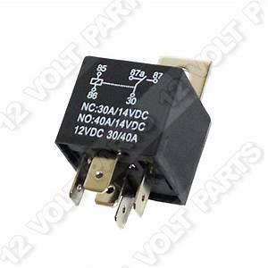 12 Volt 5 Pin Spdt Automotive Relay 30a Nc    40a No 12v
