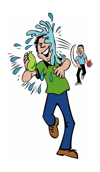 Water Clip Balloon Throw Hit Fight Clipart