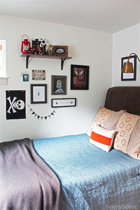 Teen Boy's Small Bedroom {an Update}  The Inspired Room