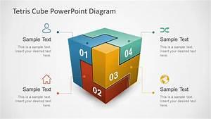 3d Tetris Cube Powerpoint Diagram