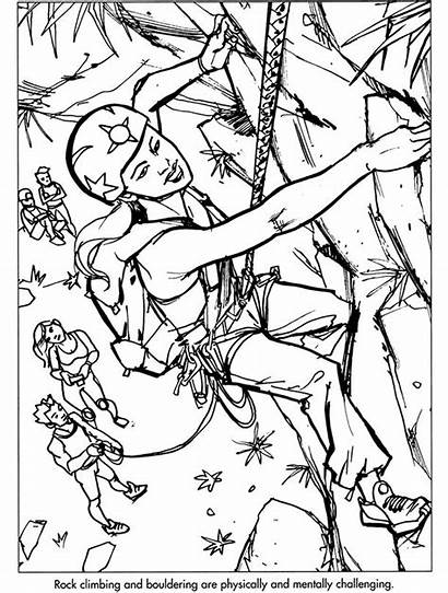 Coloring Climbing Pages Rock Sports Extreme Dover