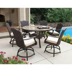 member s mark heritage 7 piece balcony height dining set