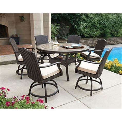 member s mark heritage 7 piece balcony height dining set