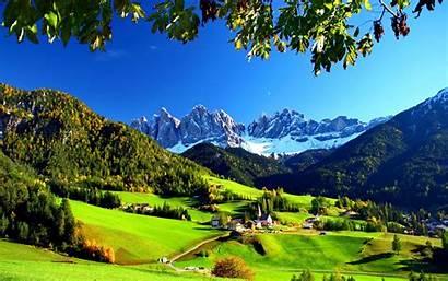 Italy Village Val Funes Di Mountain Valley