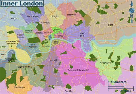 Tripadvisors london karte mit hotels, pensionen und hostels: Karte und plan die 32 bezirke (boroughs) und stadtteile ...