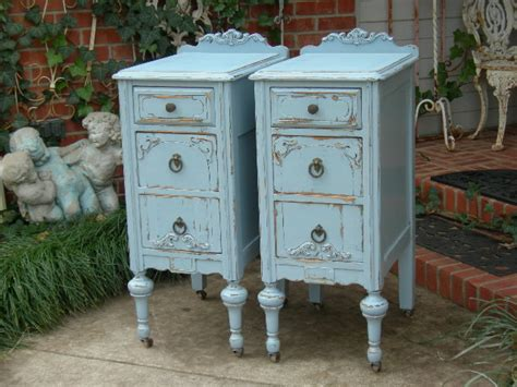 shabby chic painted furniture custom order pair of shabby chic nightstands bedside tables