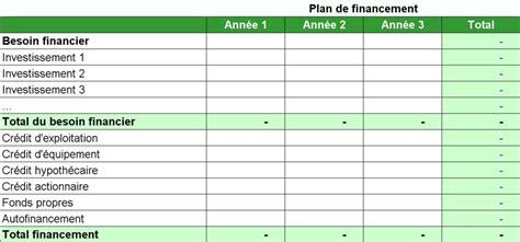 modele plan de financement plan financier bcv banque cantonale vaudoise