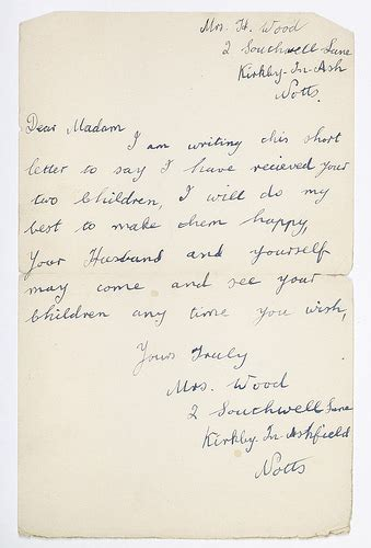 open when letters letter from eileen and shirley hussey s foster to 33023